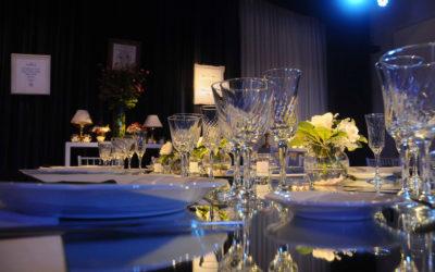 Detalle de mesa por servicio de catering.